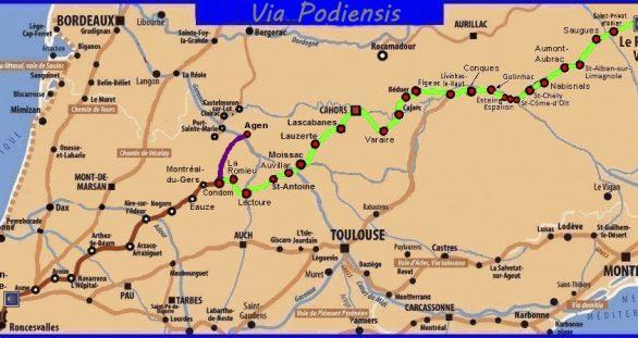 Via Podiensis: van Le Puy-en-Velay naar St-Jean-Pied-de-Port (klik op kaart om naar blog te gaan)